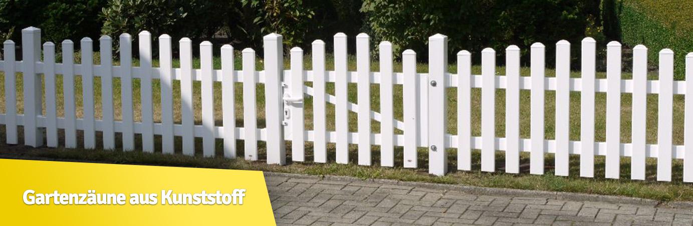 Gartenzäune aus Kunststoff – Holzinform-Steinert